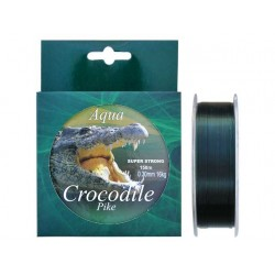 Nylon/Fir monofilament Aqua Crocodile Pike 150 m, verde inchis