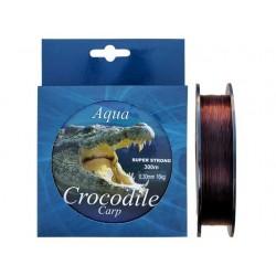 Nylon/fir monolofilament Aqua Crocodile Carp 300 m, maro