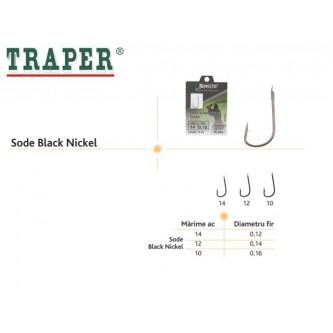 Ace pescuit Sode Black Nickel - Set 10 ace legate