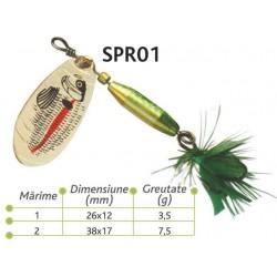 Lingurite rotative Spr 01 Baracuda 3.5g/7.5g