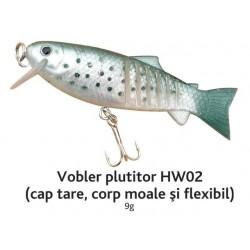 Vobler plutitor HW02 Baracuda 9g