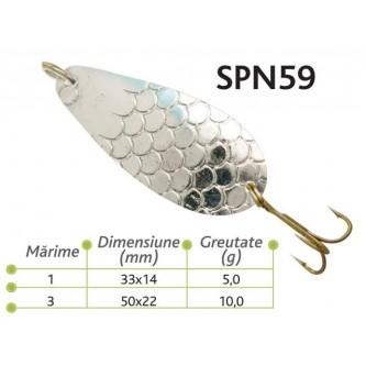 Lingurite oscilante Spn 59 Baracuda 5g/10g