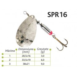 Lingurite rotative Spr 16 Baracuda 3g/6g/9g