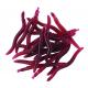 Set 20 bucati viermi rosii silicon Baracuda de 4cm
