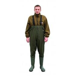 Cizme salopeta/vader Baracuda nylon/PVC, culoare verde