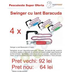 Swinger cu lant Baracuda, 4 culori, loc pentru starleti