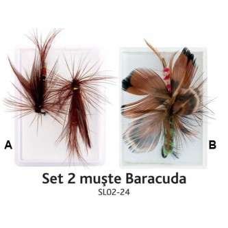 Set 2 muste Baracuda SL02- 24 (cutie)