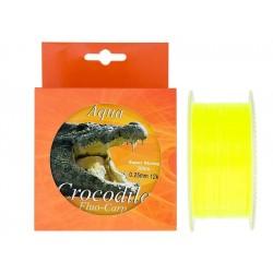 Nylon/fir monofilament Aqua Crocodile Fluo-Carp 300 m, galben fluo