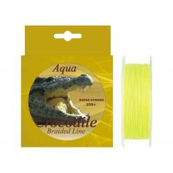 Fir textil pentru pescuit la somn Aqua Crocodile 250 m, galben fluo