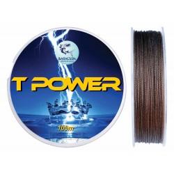 Fir textil teflonat Baracuda TPower 100 m, culoare maro