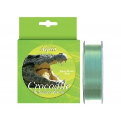 Nylon/fir monofilament Aqua Crocodile Bolognese & Pole 150 m, verde pal