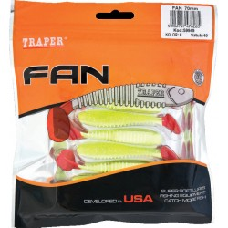 Shad Ripper Fan Traper 70 mm, 10 buc/set
