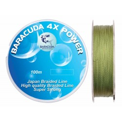 Fir textil Baracuda 4XPower 100 m, culoare verde