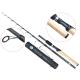 Lanseta fibra de carbon Baracuda Travel Spin 240 pentru spinning sau pescuit la pluta