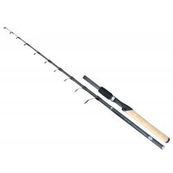 Lanseta fibra de carbon Baracuda Travel Spin 2.40 m pentru spinning sau pescuit la pluta