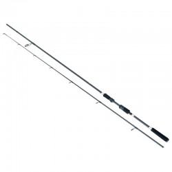 Lanseta spinning fibra de carbon Baracuda Black Pearl 2 2.35 m A: 15-40 g
