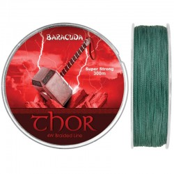 Fir textil Baracuda Thor 300 m, culoare verde