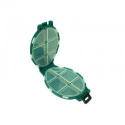 Cutie pescar Baracuda HS004 pentru carlige, culoare verde, 110x75x30 mm