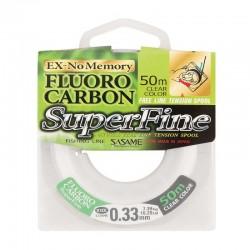 Fir monofilament fluorocarbon Sasame Superfine FC 50m LFL-3, alb stransparent