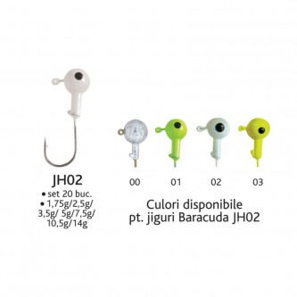Set 20 bucati jig- uri JH02*5g Baracuda