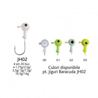 Set 20 bucati jig-uri JH02*3,5g Baracuda