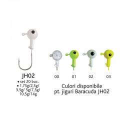 Set 20 bucati jiguri JH02*7,5g Baracuda