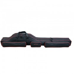Geanta lansete 2 compartimente Baracuda B42, 135 cm, neagra