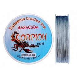 Fir textil Baracuda Dyneema Scorpion 100 m, culoare gri